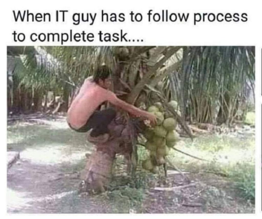 Not understanding the process